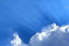 De stralen van de zon Stock Fotografie