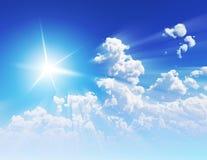 De Stralen van de zon Stock Afbeeldingen