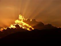 De stralen van de zon royalty-vrije stock afbeeldingen