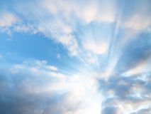 De stralen van de zon royalty-vrije stock afbeelding