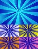 De stralenachtergrond van de kleur Stock Foto's