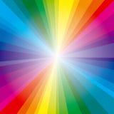De stralenachtergrond van het spectrum Royalty-vrije Stock Afbeelding