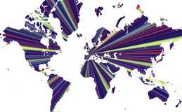 De stralende Kaart van de Wereld Royalty-vrije Stock Foto's