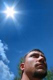 De straling van de zon stock afbeeldingen