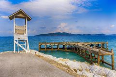 De strand openbare pijler Royalty-vrije Stock Foto