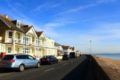 De strandboulevard Kent England van de overeenkomstenstad stock afbeelding