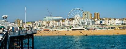 De strandboulevard van Brighton royalty-vrije stock fotografie