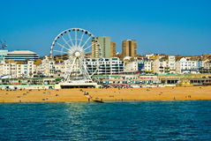 De strandboulevard van Brighton Stock Foto