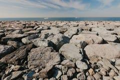 De strandboulevard van Doubai, Verenigde Arabische Emiraten Palma Jumeirah stock fotografie