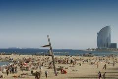 De stranden van Barcelona stock foto's