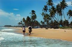 De Stranden van Goa in India royalty-vrije stock afbeeldingen
