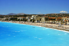 De stranden van Nice royalty-vrije stock foto's