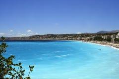 De stranden van Nice royalty-vrije stock foto