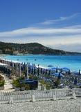De stranden van Nice Royalty-vrije Stock Afbeeldingen