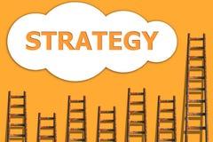 De strategie kon binnen, wordding over succes van zaken stock illustratie