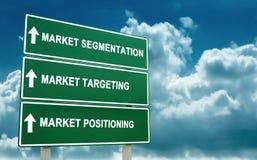 De strategie van de markt stock fotografie