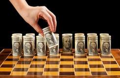 De strategie van het geld Stock Afbeelding
