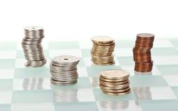 De strategie van het geld Stock Foto's
