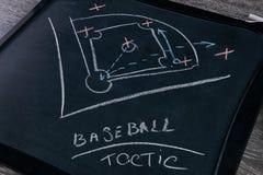 De strategie van het honkbalspel stock afbeeldingen