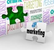 De Strategie van het Plan van de Markt van het Stuk van het Raadsel van de Muur van de marketing Stock Fotografie
