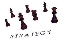 De strategie van het schaak royalty-vrije stock afbeeldingen