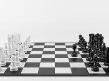 De strategie van het schaak De eerste stap Royalty-vrije Stock Afbeeldingen