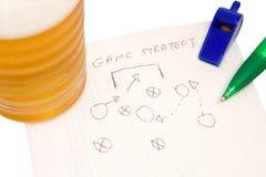 De strategie van het spel Stock Afbeeldingen