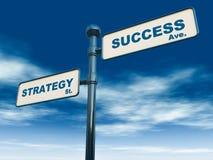 De strategie van het succes Stock Afbeeldingen
