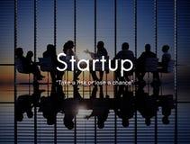 De Strategieconcept start Nieuw van Bedrijfslanceringsaspiraties Royalty-vrije Stock Afbeeldingen