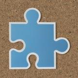 De strategiepictogram van het puzzelstuk Stock Afbeeldingen
