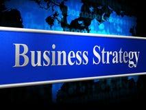 De strategiezaken wijzen Bedrijfs op Handel en Tactiek Royalty-vrije Stock Afbeelding