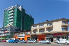 De straten van Addis Ababa Ethiopia Royalty-vrije Stock Foto