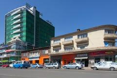 De straten van Addis Ababa Ethiopia Stock Afbeelding