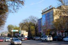 De straten van Alma Ata Royalty-vrije Stock Foto's