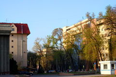 De straten van Alma Ata Stock Afbeelding
