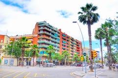 De straten van Barcelona Stock Afbeeldingen