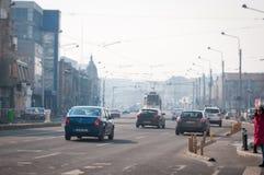De straten van Boekarest Royalty-vrije Stock Foto