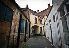 De straten van Brugge Stock Afbeeldingen