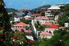 De Straten van Charlotte Amalie stock foto's