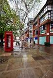 De straten van Chester, het UK stock foto