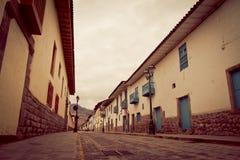 De straten van Cusco, Peru Stock Afbeeldingen