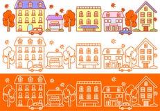 De straten van de herfst Stock Afbeelding