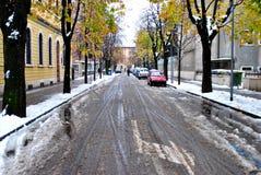De straten van de stad Stock Foto