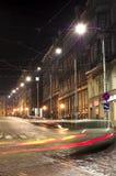 De straten van de stad in de nacht Royalty-vrije Stock Foto