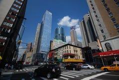 De straten van de Stad van New York royalty-vrije stock fotografie