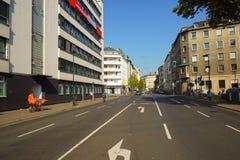 De straten van Dusseldorf Stock Fotografie