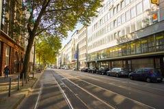 De straten van Dusseldorf Royalty-vrije Stock Foto