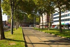 De straten van Dusseldorf Stock Afbeeldingen
