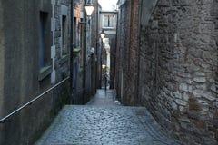 De straten van Edinburgh, Groot-Brittannië royalty-vrije stock afbeelding