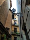 De straten van Gotische Kwarten Barcelona stock fotografie